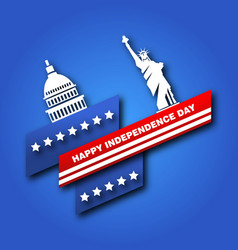 American poster for fourth of july independence vector