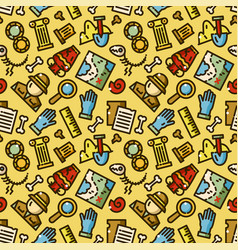 Archeology seamless pattern vector
