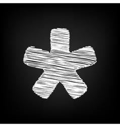 Asterisk star sign scribble effect vector