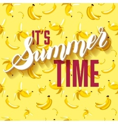 Banana Fruit Summer Lettering background vector