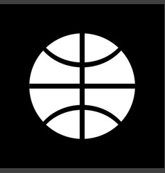 Basketball ball white color icon vector