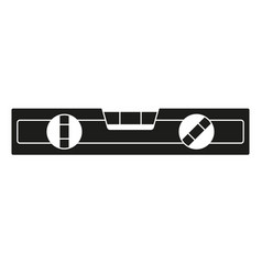 Black and white level tool silhouette vector