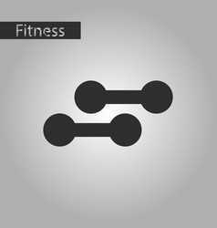 Black and white style icon dumbbells vector