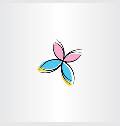 butterfly icon clipart design vector image