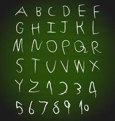 Chalk hand drawing alphabet design vector image