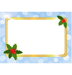 christmas card frame design template vector image