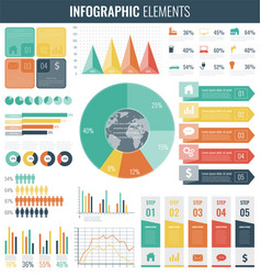 collection of infographic elements template for vector image