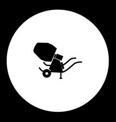Concrete mixer simple silhouette black icon eps10 vector