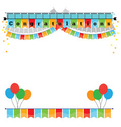 Congratulations with bunting flags image vector