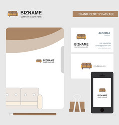 couch business logo file cover visiting card and vector image