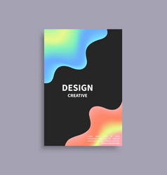 Creative design brochure mockup blurred red blue vector