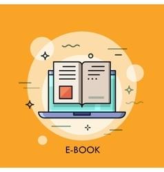 Electronic book icon digital reading concept vector