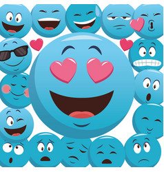 Emoticons pattern background vector