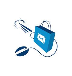 Fast online shop logo template vector