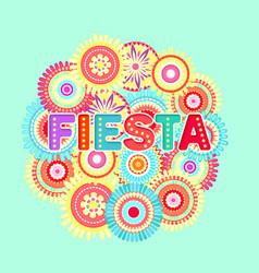 Fiesta postcard abstract flowers decorative text vector