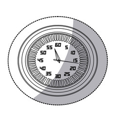 Figure round clock icon vector