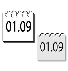 flat calendar icon calendar on the wall vector image