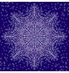 floral lace snowflake with winter motiv vector image