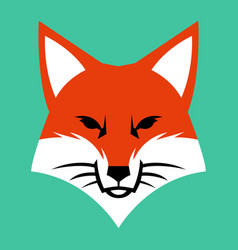 Fox face logo icon vector