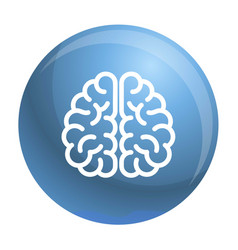 Genius brain icon outline style vector