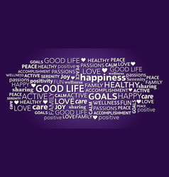 good life positivity word tag cloud vector image