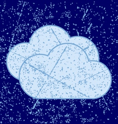 grunge clouds vector image