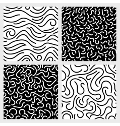 Hand drawn marker ink line stroke squiggle vector