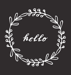 Hello hand drawn lettering vector