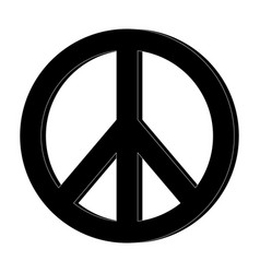 Hippie peace love circle button element symbol vector