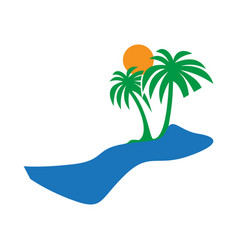 holiday beach logo vector image