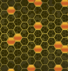 honeycomb background three vector image vector image