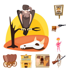Isolated object wild and west icon set wild vector
