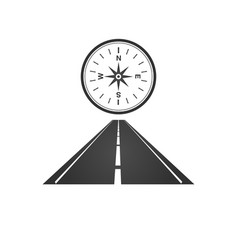 logo a minimalistic road with a roadside vector image