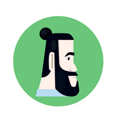 man with beard vector image