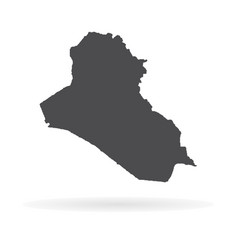 Map iraq isolated black on vector