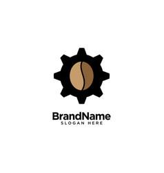 Mechanical coffee logo design inspiration vector