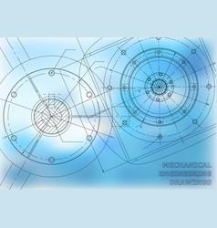 Mechanical engineering drawings background vector