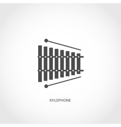 Musical instrument xylophone flat icon vector image