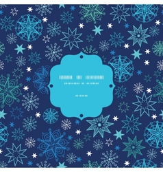 Night snowflakes frame seamless pattern background vector image