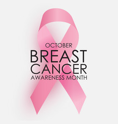 october breast cancer awareness month concept vector image