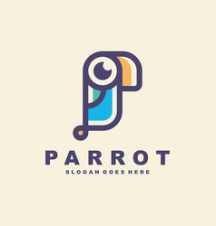 Parrot bird logo vector