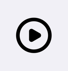play button icon video or music media play vector image