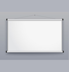 presentation screen blank whiteboard vector image