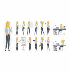 pretty businesswoman - cartoon people vector image
