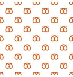 pretzel bakery pattern seamless vector image