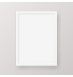 Realistic Empty White Picture Frame isolated on a vector