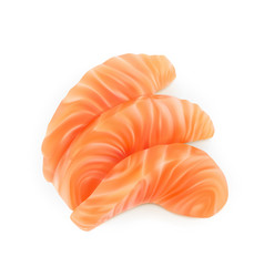 Realistic sliced salmon fillet vector