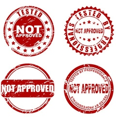 Red stamp - not approved vector image