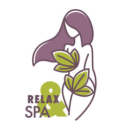relax and spa center salon logo graphic design vector image