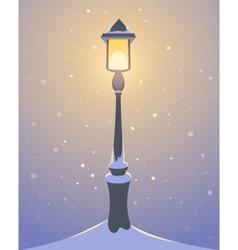 Retro Street Lamp vector image